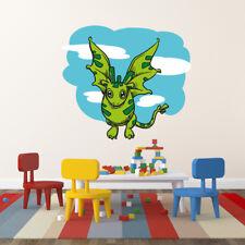 Grüner Drache Dinosaurier Wandtattoo Kinderzimmer farbig 60 x 50 cm Motiv #154B