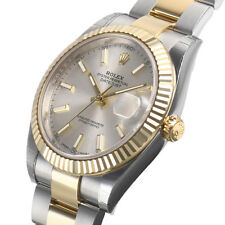Rolex Datejust 41mm 126333 Two Tone Steel & Gold Oyster Silver Index Dial Watch