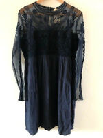 2ba0b7f004 SUNDANCE CATALOG Beautiful LOVELACE Navy Blue Lace Dress Size 2 Orig. $168