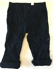 NWT THE CHILDREN'S PLACE BLUE CARGO PANTS BOTTOMS GIRLS SIZE 5 POCKETS ROLL UP
