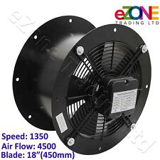 More details for 450mm industrial duct fan cased axial commercial kitchen canopy extractor