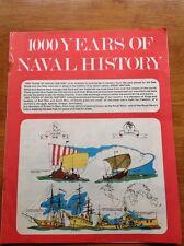 1000 Years of Naval History Vintage Magazine Paperback