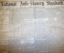 1866 National Anti-Slavery Standard newspaper SLAVE ABOLITION in RECONSTRUCTION
