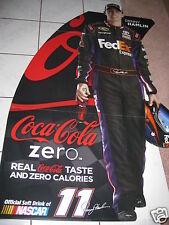 Lifesize NASCAR Denny Hamlin #11 Fed Ex Coke Zero Cardboard Stand Up  NEW