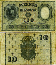 SUEDE  ,  10  KRONOR  1955