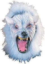 Silver Wolf Mask with Hair Werewolf Wolfman Costume Moster