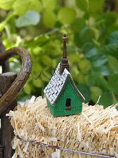 Miniature Dollhouse FAIRY GARDEN Accessories ~ Irish Cottage Birdhouse ~ NEW