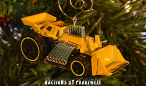 Custom Hot Rod Bulldozer Earth Mover Christmas Ornament 1/64 Scale Adorno CAT