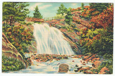 Old Linen Postcard Helen Hunt Jackson Falls Colorado Springs Waterfall Cheyenne