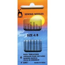 Pony Gold Eye Hand Sewing Needles - Easy Thread Size 4-8