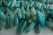 "**Natural Amazonite Chip Bead 5/7mm wide x 12/22mm long 8.5mm x16"" (100g) Strand"