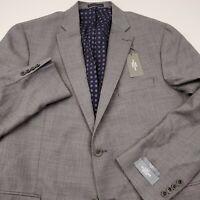 Hart Schaffner Marx Light Gray Notch Lapel New York Fit Sports Coat Men Size 44R