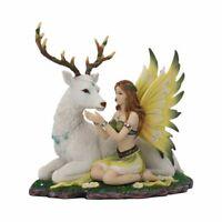 Adoration stag and spring fairy figurine 23.5cm Nemesis Now D4030K8