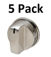 Stainless Knob for LG EBZ37189611 GE WB03K10286 Stove Range No SuperBroil 5-Pack