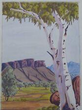 "BASIL RANTJI HERMANNSBURG WC ""CENTRAL AUSTRALIAN LANDSCAPE"" C 1980"