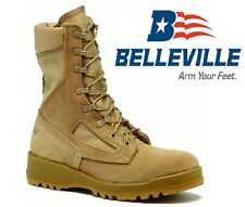 US Army BELLEVILLE 390 DES Combat ACU Tan Military Boots Army Stiefel 8R Gr. 41