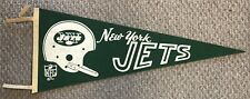 Vintage 1967 New York Jets Pennant Full Size NFL Pennant With Tassles