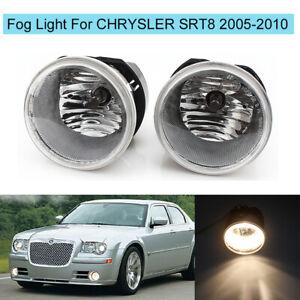 For CHRYSLER 300C 2005-2010 SRT8 2008-2009 Front Bumper Fog Light Lamp w/Blubs