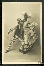 Black Americana rppc Cake Walk 6 Gay Man in Dress 1900 Circus