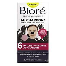 BIORÉ Set de 6 Patchs Purifiants au Charbon Lot de 2 Anti Points Noirs Comédon