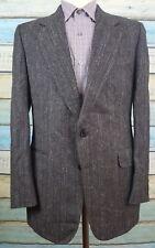 Samuelsohn Harry Rosen Size 40L Mens Black Wool  2 Button Blazer