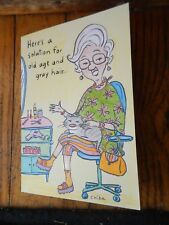 HUMOROUS HAPPY BIRTHDAY CARD FOR MATURE WOMAN (MADE IN USA)