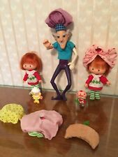 Vintage Strawberry Shortcake Dolls Lot, Purple Pie Man