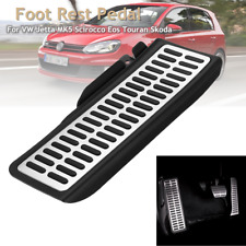Car Steel Dead Pad Sport Foot Rest Pedal Kit For VW Jetta MK5 MK6 Scirocco Eos