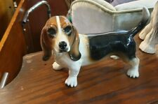 Basset Hound Ceramic Dog ornament figure Vintage