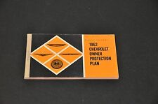 1962 NOS CHEVROLET OWNER PROTECTION PLAN - WARRANTY BOOK  1ST EDITION
