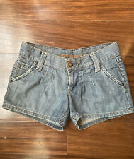 Mossimo Supply Co Womens Shorts Size 1 Blue Jean Denim Summer Low Rise