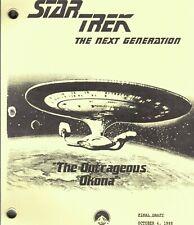 "STAR TREK: THE NEXT GENERATION script ""The Outrageous Okona"""