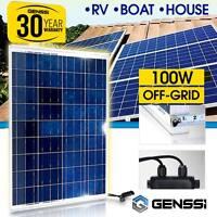 100W Solar Panel 12V DC Works Boat Marine RV Off-Grid Battery Charger GENSSI®