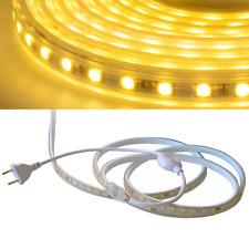 230V LED Streifen Lichterkette Schlauch 1m-30m Warmweiß 3000K IP65 SMD 5050/60m