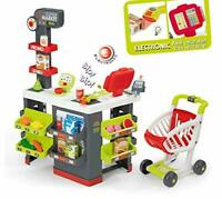 Smoby 350213 Kids Supermarket Playset with 42 Accessories inc. Cash Register,