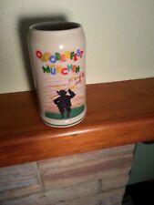 Vintage Oktoberfest Munchen Beer Stein 1983 signed collectible, Man Cave