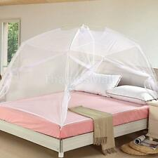 White Folding Freestand Bed Canopy Insect Mosquito Net Tent For Single Bed