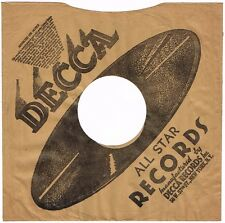 """1940s 10"""" inch DECCA All Star Records Record SLEEVE ONLY 78 RPM"""