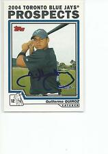 GUILLERMO QUIROZ Autographed Signed 2004 Topps Traded card Toronto Blue Jays COA