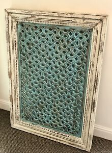 Antique Solid Mango Wood Indian Wall Panel, Wall Decor, Home and Living.