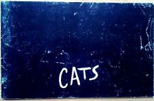 """Programme musical hit """"CATS"""" - New London Theatre, 1981"""