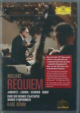 Mozart. Requiem. Karl Bohm (2005) DVD NUOVO Gundula Janowitz, Christa Ludwig, Pe