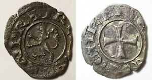 CROISADES - ROYAUME DE CHYPRE : RARE DENIER DE HENRI II (2nd règne)