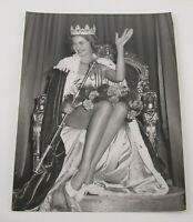 PAUL POPPER vintage Photo Foto 1958 Miss World South Africa Coele Silbergelatine