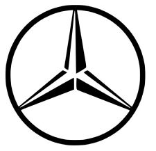 Mercedes Benz Logo Badge Vinyl Decal Stickers 120mm x 120mm for Car Lorry HGV x2