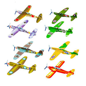 CHILDRENS WWII FLYING GLIDERS. Kids Toys- Party Bag Fillers Packs of 1-48