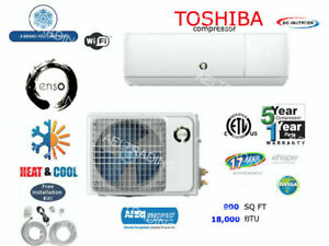 18000 BTU Ductless AC Mini Split Heat Pump Air Conditioner Inverter with WiFi!