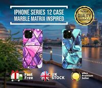 Case for iPhone 12 2021 ShockProof Marble Phone Cover Silicone | Intense Marble