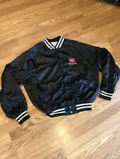Vintage SNAP-ON Tool Box Logo Satin Jacket Lined Black sz L 44/46 King Louie