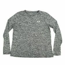 Under Armour HeatGear Men's Shirt Activewear Crew Neck Loose Long Sleeve Gray XL